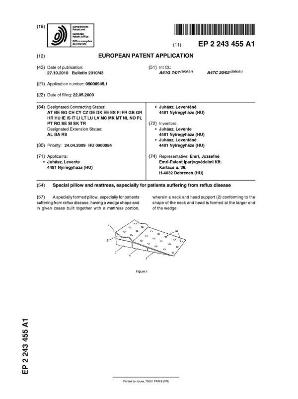 Reflux Kissen Patent